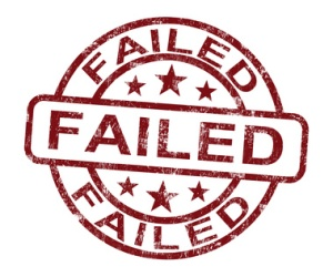 Failed Stamp Showing Reject Or Failure